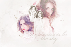 Lily Collins by Brenlala