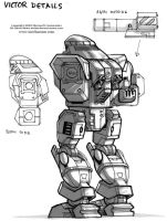 MechWarrior 4 Victor Back by Mecha-Zone