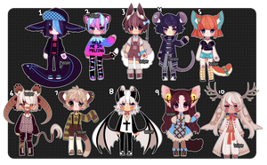 Set Price Adopts (2/10 open) by Kariosa-Adopts