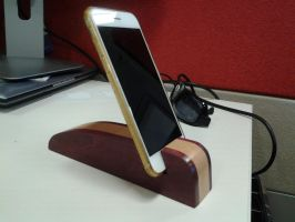 Wood iPhone holder iPhone stand Phone stand by tikijohn