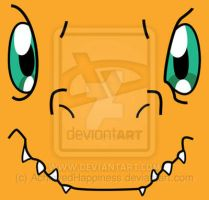 Agumon's Face - Digimon T- Shirt by AchievedHappiness