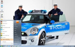 Police-MINI-E-R56 windows 7 theme by windowsthemes