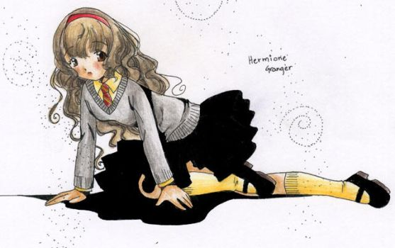 Hermione anime style by shimoyo