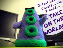 Purple Tentacle Needle Felt by nekofoot