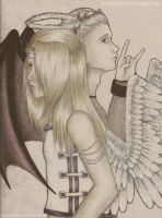 +Hi and Dei: Devil and Angel+ by Lady-Werewolf