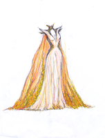 Royal Golden Gown by carouselclover