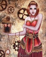 Portrait of a Steampunk #3 - Copper by Aurella
