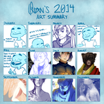 2014 Art Summary by OliviaIron