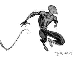 Sketch::Spidey by KharyRandolph