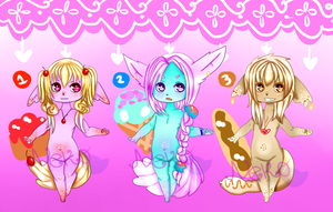Sweets Anthro Batch-OPEN-1 LEFT by StarryNekoAdopts