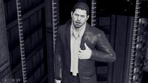 Chris Redfield with Elegant Suit by JhonyHebert