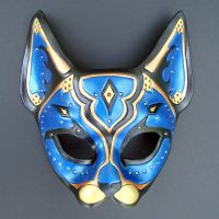 Blue Persian Cat Mask by merimask