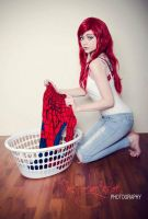 MJ doing the laundry ) by EveyDantes