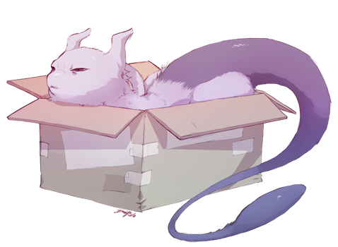 pkmn: Mewtwo in a box by Denimecho