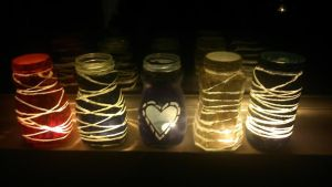 Recycled and upcycled tealight by FlyingSkySnow