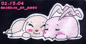 Salamon and Tokomon Sleeping by guardian-of-moon