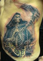 Death tattoo by Daksi