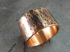 very wide bronze ring by Siihraya