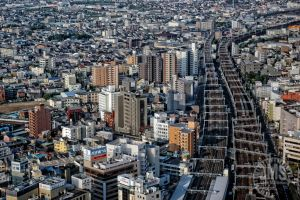 Rail Tracks through Hamamatsu by steeber