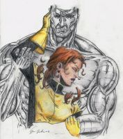 Kitty and Colossus by Godisinvincible