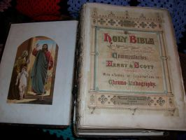 ANTIQUE HOLY BIBLE by TillShilohComes