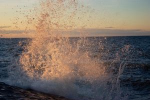 Evening splash 2 by Michel1963