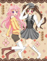 Iris and Anju by Crispelter
