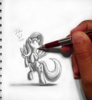 Drawn To Life_Fluttershy by Tsitra360