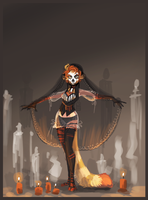 Voodoo priestess by griffsnuff