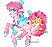 Candy Pony Adoptable Auction [CLOSED] by TanukiAdopts