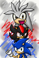 Sonic.Shadow.and Silver. by xchaosxelementixx