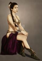 Slave Leia in Technicolor by HiTechArtist