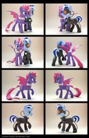 Cynder + WeAreBorg 3D-Printed Figures by Clawed-Nyasu