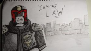 Judge Dredd Sketch by ChrisM38