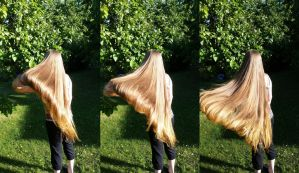 Hair throwing by TrashedBarbie
