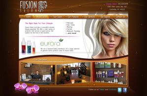 Fusion Salon website by Stephen-Coelho