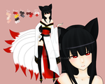 Nine-Tailed Fox - Kyubi (closed) by Sighed