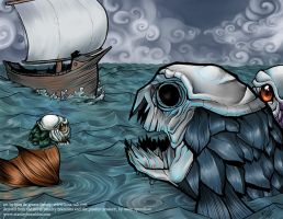 One Eye and the Armour Fish by kina