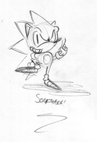 CHECK OUT THE HEDGEHOG by soncomsketchbook