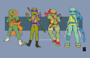 Teenage Mutant Ninja Turtles by missveryvery