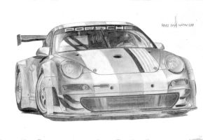 Porsche 911 GT3 RSR Drawing by VinJiro