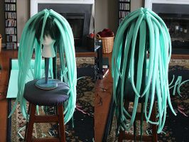 Envy's Wig Progress 1 by Xelhestiel