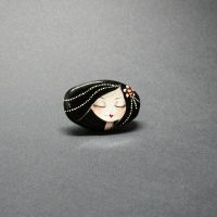 Doll Brooch - Sleepy Head by 1anina