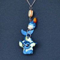 Vaporeon Necklace by Loreleiwave