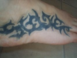 foot tattoo by bevf2003
