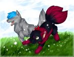 Playful Friends by ByoWT1125