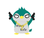 Thug life Penguin by airilove