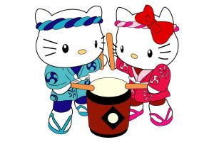 helly kitty taiko by Kemys