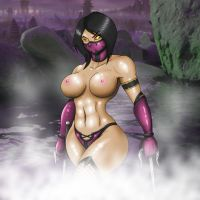 Sexy Mileena Outworld Hotspring by TheGeckoNinja