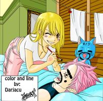 fairy tail 280 (lucy, natsu and happy) by darjacu